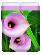 Pink Calla Lily Duvet Cover