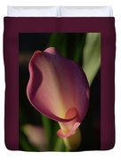 Pink Calla Lily - Vertical Duvet Cover
