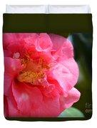 Pink Camelia Closeup Duvet Cover