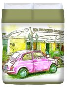 Pink Car Duvet Cover