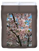 Pink Cherry Blossoms Duvet Cover