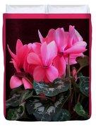 Pink Cyclamen 1 Duvet Cover