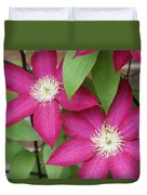 Pink Clematis 2 Duvet Cover
