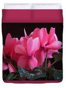 Pink Cyclamen  Duvet Cover