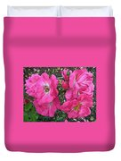 Pink Climbing Roses - Digitally Enhanced Duvet Cover