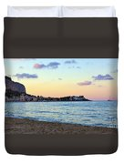 Pink Clouds Over Sicily Duvet Cover