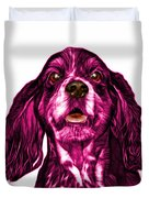Pink Cocker Spaniel Pop Art - 8249 - Wb Duvet Cover