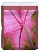 Pink Coleus Duvet Cover