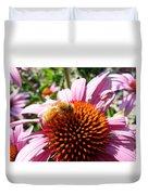 Pink Coneflower Duvet Cover