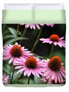 Pink Coneflowers Duvet Cover