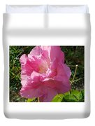 Pink Confederate Rose Duvet Cover