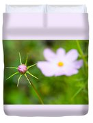 Pink Cosmos Bud Duvet Cover