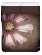 Pink Cosmos Painting Duvet Cover