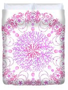 Pink Crab Mandala Duvet Cover
