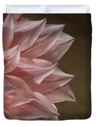 Pink Dahlia In Bloom Duvet Cover
