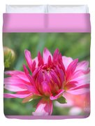 Pink Dahlia Beauty Duvet Cover