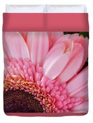 Pink Daisy Close-up Duvet Cover
