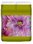 Pink Daisy Duvet Cover