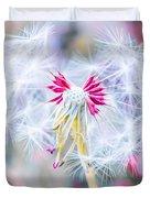 Pink Dandelion Duvet Cover
