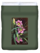 Pink Daylilys Duvet Cover