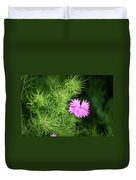 Pink Dianthus With Nigella Buds Duvet Cover