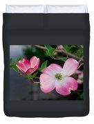 Pink Dogwood In The Morning Light Duvet Cover