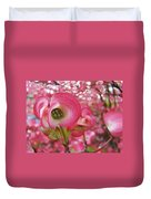 Pink Dogwood Tree Flowers Dogwood Flowers Giclee Art Prints Baslee Troutman Duvet Cover