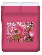 Pink Dogwood Tree Flowers Dogwood Flowers Giclee Art Prints Baslee Troutman Duvet Cover
