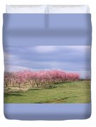 Pink Pear Trees Duvet Cover