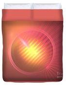 Pink Eclipse Duvet Cover