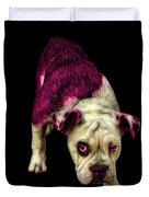 Pink English Bulldog Dog Art - 1368 - Bb Duvet Cover