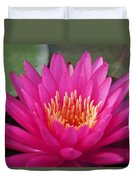 Pink Flame Waterlily Duvet Cover