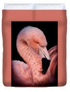 Pink Flamingo Portrait Duvet Cover