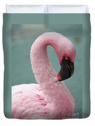 Pink Flamingo Profile 2 Duvet Cover
