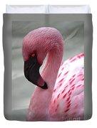 Pink Flamingo Profile Duvet Cover