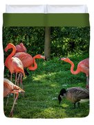 Pink Flamingos And Imposters Duvet Cover