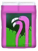 Pink Flamingos Duvet Cover