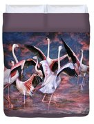 Pink Flight Duvet Cover