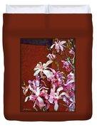Pink Floral Arrangement Duvet Cover