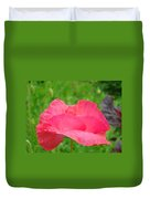 Pink Floral Flower Art Print Green Meadow Baslee Troutman Duvet Cover