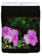 Pink Floral Watercolor Duvet Cover