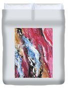 Pink Flow Abstract Duvet Cover