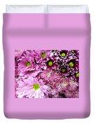 Pink Flower Carpet Duvet Cover