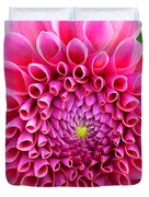 Pink Flower Close Up Duvet Cover