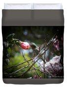 Pink Flower Hummie Duvet Cover