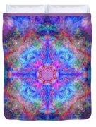 Pink Flower Of Life Mandala Duvet Cover