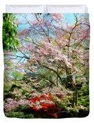 Pink Flowering Dogwood Duvet Cover