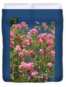 Pink Flowering Shrub Duvet Cover