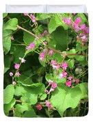 Pink Flowering Vine1 Duvet Cover