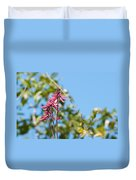 Pink Flowers At Coba Duvet Cover